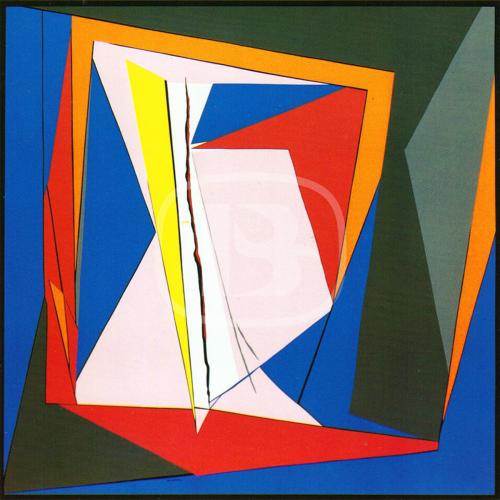 121 - Färgserigrafi, signerad av Richard Mortensen.