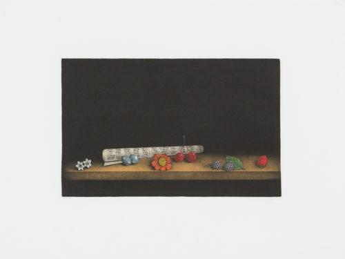 Musical Notes - Mezzotint, signerat av Tomoe Yokoi.