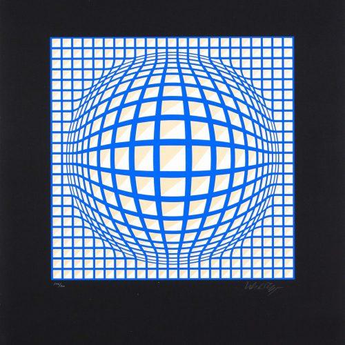 Terz (Stor) - Färgserigrafi, signerat av Victor Vasarely.