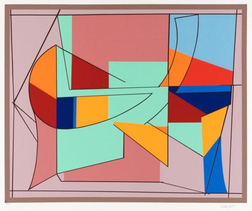 2003 - Färgserigrafi, signerad av Richard Mortensen.
