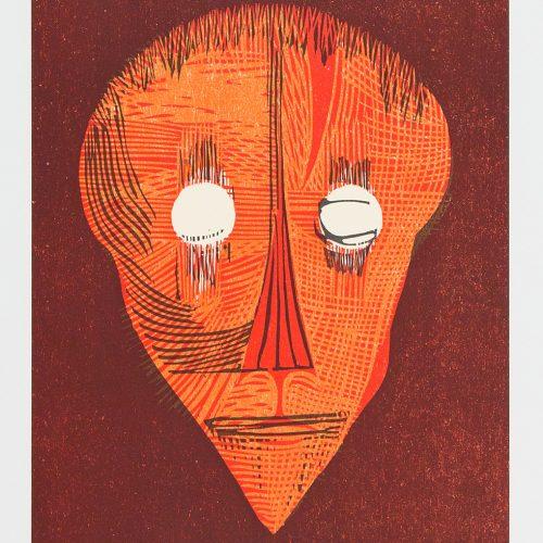 Petit Nobel,Head - Färgserigrafi, signerad och daterad 1988 av Cecil Skotnes.