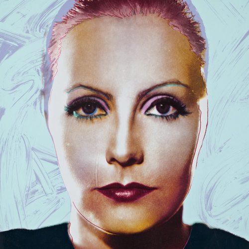 """The Divine - Färgserigrafi, (1 av 6) ur mappen """"Greta Garbo"""" som påbörjades av Andy Warhol, men slutfördes av Rupert Jasen Smith på grund av Andy Warhols plötsliga bortgång. Verket är signerat av Rupert Jasen Smith."""