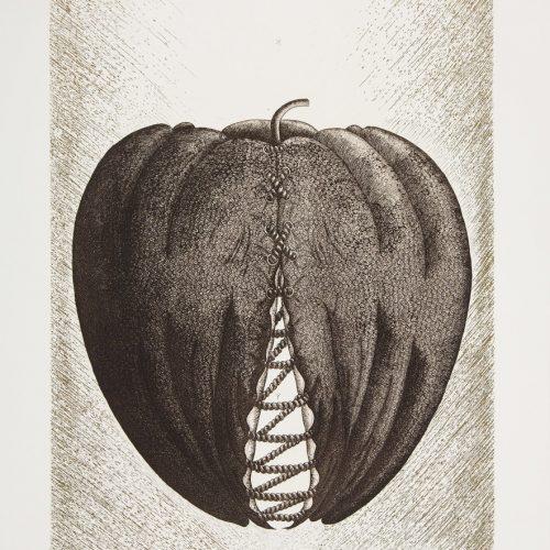 Fruit - Etsning, signerad av Mayumi Morino.