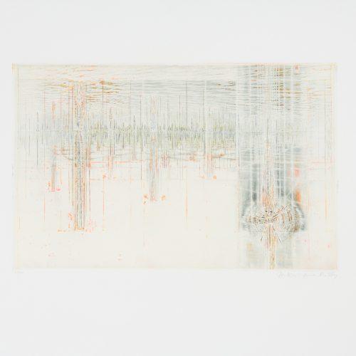 "Hommage aux Prix Nobel - Färgetsning ur mappen ""Hommage aux Prix Nobel"", utgiven av Galerie Börjeson 1974."