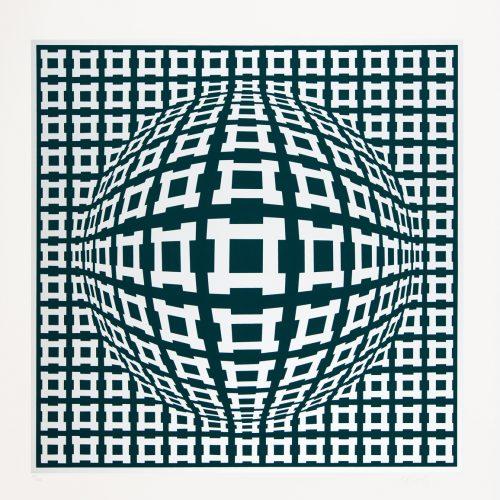 Nobel/Rosenthal II - Färgserigrafi, signerat av Victor Vasarely.