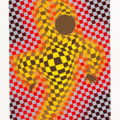 Harlequin - Färgserigrafi, signerat av Victor Vasarely.