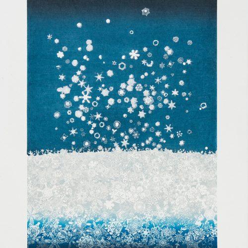 Iskristaller - Färgetsning, signerad och daterad av Chizuko Yoshida 1987.