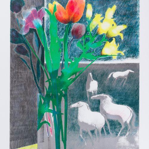LumièreMatinale (Morgonljus) - Färglitografi, signerad av Paul Guiramand.