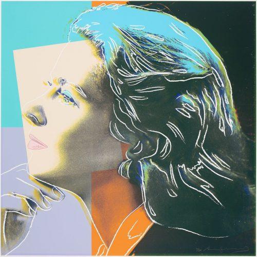 """Ingrid Bergman """"Herself"""" - Färgserigrafi, ett av tre verk från den berömda portfolion med Andy Warhols tre porträtt av Ingrid Bergman gavs ut 1983 av Galerie Börjeson. Signerat av Andy Warhol."""