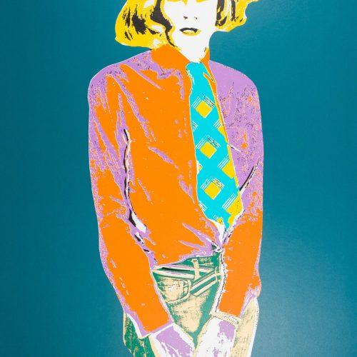 Warhol IV (Grön) - Handkolorerad serigrafi, signerad av Kari Riipinen.