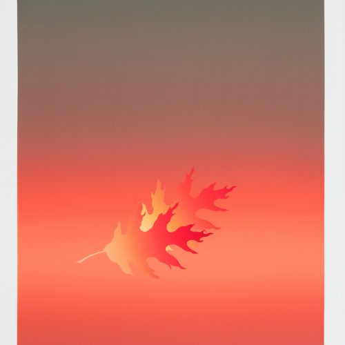 Gyllene löv - november - Färgserigrafi, signerad av Kozo Inoue.