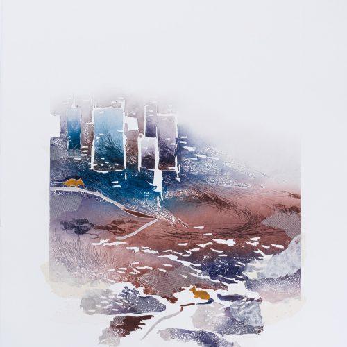 Stadsråttan & Lantråttan - Collage, präglad färgetsning, signerad och daterad 1992 av Francis Méan.