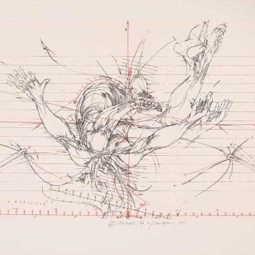 Obstacle Fig.B1 - Etsning, signerad av Vladimir Velickovic.