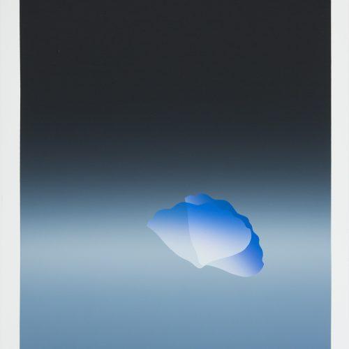 Aftonstämning - augusti - Färgserigrafi, signerad av Kozo Inoue.