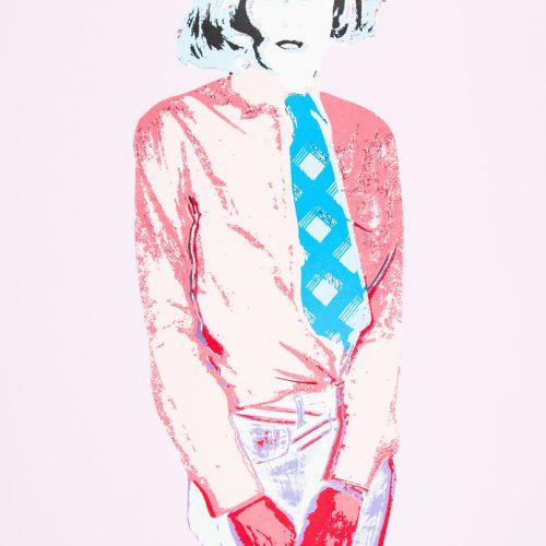 Warhol I (Rosa) - Handkolorerad serigrafi, signerad av Kari Riipinen.