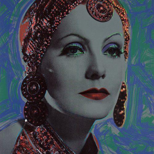 """Midnight - Färgserigrafi, (1 av 6) ur mappen """"Greta Garbo"""" som påbörjades av Andy Warhol, men slutfördes av Rupert Jasen Smith på grund av Andy Warhols plötsliga bortgång. Verket är signerat av Rupert Jasen Smith."""