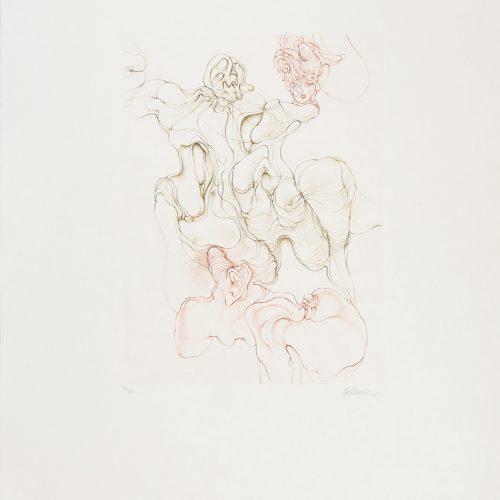 Naissance - Etsning på rispapper, signerad av Hans Bellmer.