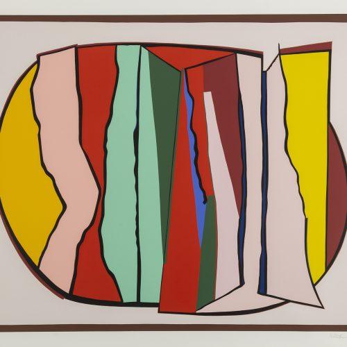 Orezza - Färgserigrafi, signerad av Richard Mortensen.